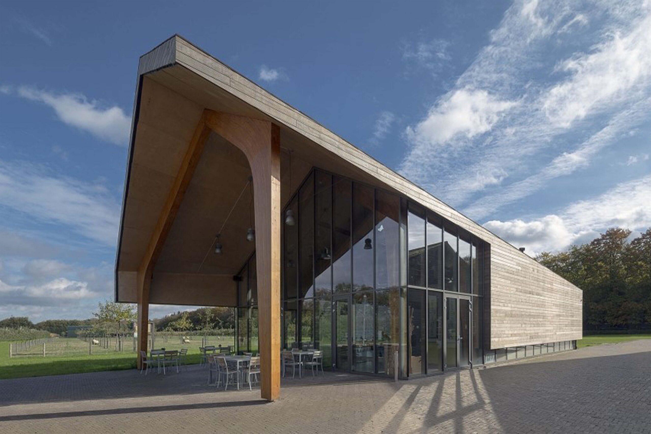 Informatiepaviljoen Stadspoort Landbouw - terrein Eindhoven Phillips fruittuin - Bouwbedrijf van Gerven